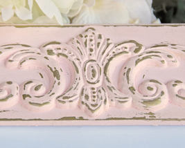 Distressed 5x7 picture frame, Pink & gold wall gallery frame, Shabby chi... - $50.00
