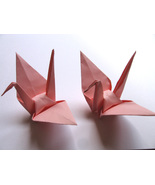 100 Large Light Pink Color Origami Cranes - $25.00