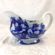 Ironstone Flow Blue Cosmos Gravy or Sauce Creamer Flowers - $27.16