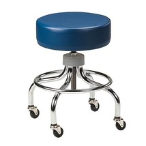 Clinton Chrome Base Stool w/Round Footring Allspice - $160.21