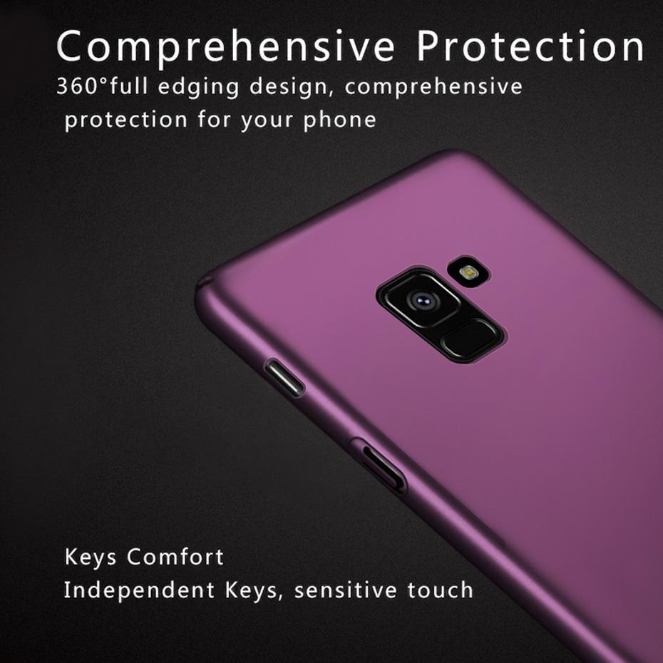 Hard PC Luxury Back Protector Phone Cases For Samsung Galaxy A8 2018 Case Cover