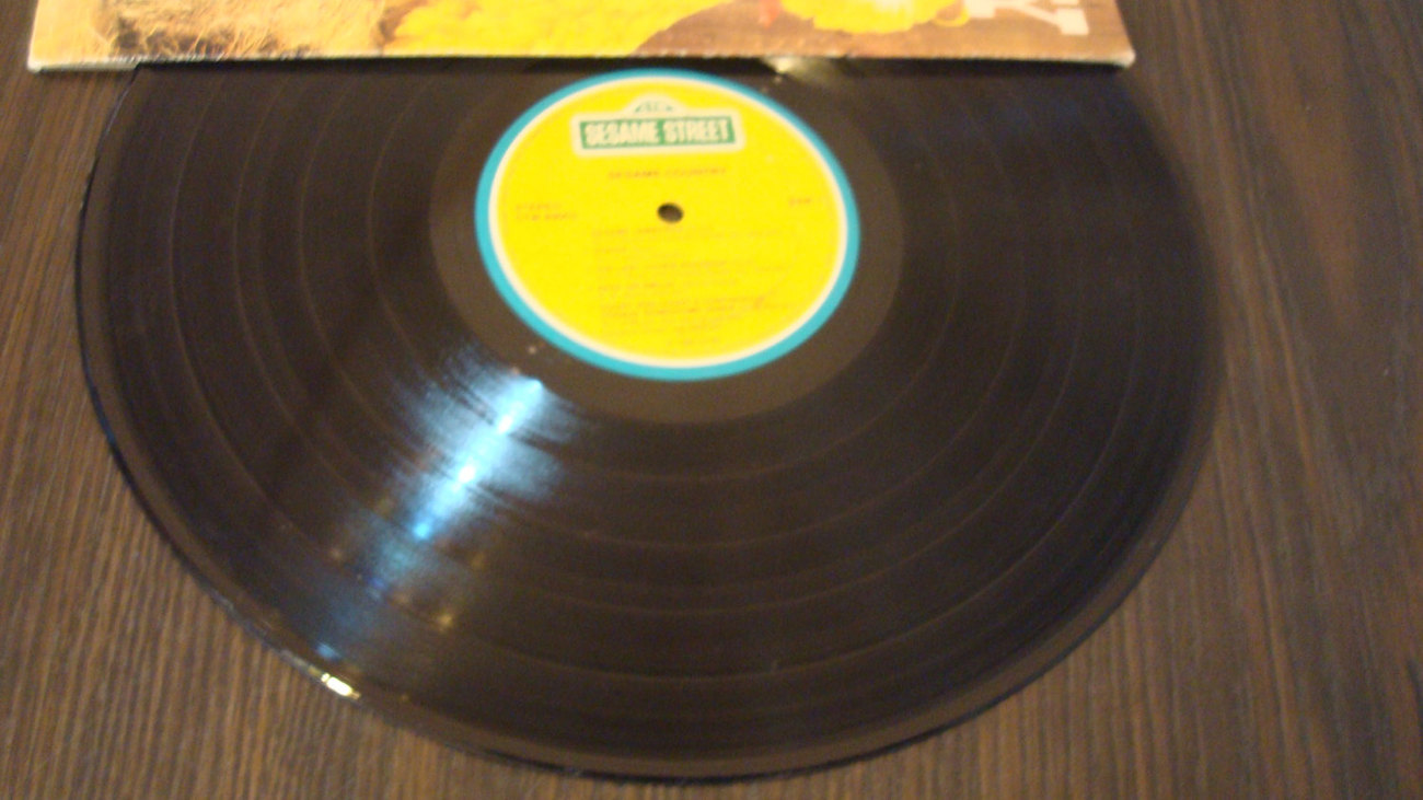 Sesame Country Record - Sesame Street Fever - 33 1/2 Vynal Record Vinal - Double