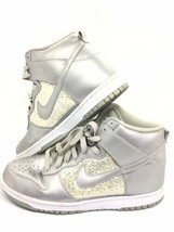 Nike Womens Dunk High Glitter Metallic Shoes Sz 11 High Top Sneakers 325... - $37.62