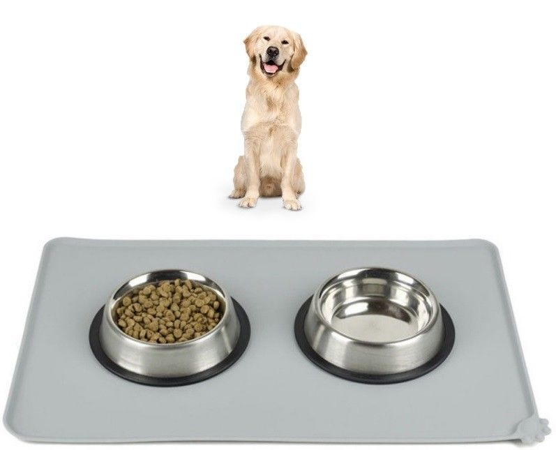 Primary image for Pet Cat Dog Meal Pad Silicone Food Water Bowl Feeding Mat Shaped Puppy 1PC