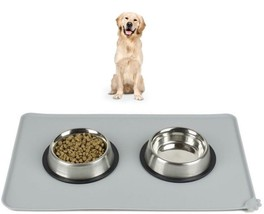 Pet Cat Dog Meal Pad Silicone Food Water Bowl Feeding Mat Shaped Puppy 1PC - $13.99