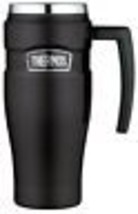 Thermos Stainless King 16 Ounce Travel Mug with Handle, Matte Black - $42.99