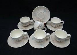 VINTAGE LOT OF 6 RED WING BOB WHITE PATTERN QUAIL COFFEE MUGS CUPS & SAU... - $46.99