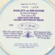 """""""Scarlett and Her Suitors"""" by Howard Rogers Plate with Box AA20-CP2231 Vintage image 4"""