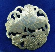 Handwrought Sterling Gregor Panis Strawberry Pin (#J4748) - $150.00