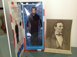 PRESIDENT ABRAHAM LINCOLN Talking Action Figure  plus Repro 1860 Portrai... - $185.21