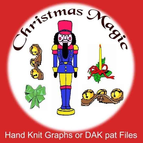 Christmas Magic Knit Patterns - Graphs or PAT files - Digital Download
