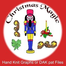 Christmas Magic Knit Patterns - Graphs or PAT f... - $1.80