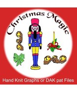 Christmas Magic Knit Patterns - Graphs or PAT files - Digital Download - $1.80