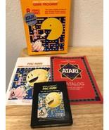 Atari 2600 Pac-Man CX2646 Game Cartridge With Original Box and Manual - $47.55