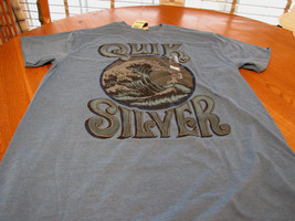 Men's Quiksilver blue heather t shirt S small victory at sea - $8.01