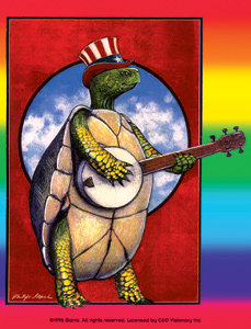 The Grateful Dead Dancing Terrapins Sticker
