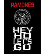 The Ramones Poster Flag Hey Ho Let's Go Tapestry New - $14.99