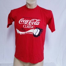 VTG 1986 Coca Cola Classic Olympuc T Shirt 80s Baseball Tee 50/50 Soda U... - $29.99