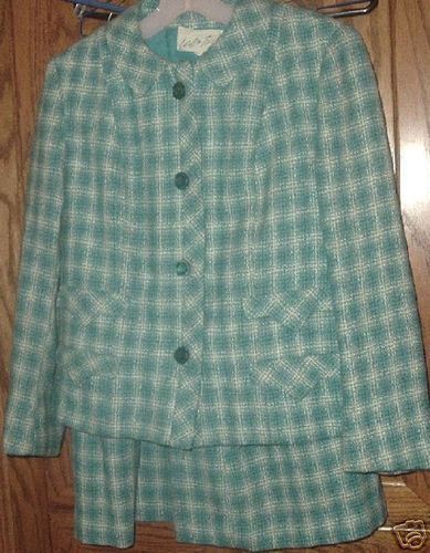 Vtg 50's LORD & TAYLOR Towncliffe wool Skirt suit Set Bonanza