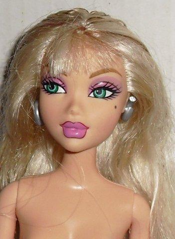 MY SCENE Barbie Doll blonde BEAUTY MARK nude for OOAK Mattel