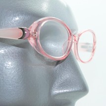Fun Reading Glasses See Thru 50's Pink Jelly Whimsy Oval Frame +2.50 Lens - $23.00