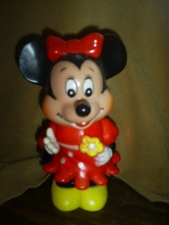 "Minnie Mouse Bank, 6"" tall, Collectible, Walt Disney Productions"