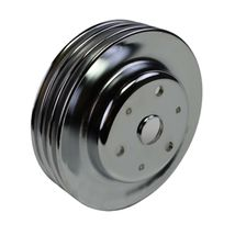 Crankshaft Pulley Triple-Groove LWP Long Water Pump For Chevy SBC 262 283 400 image 8