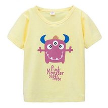 LIGHT YELLOW Infant Pure Cotton Tee Baby Toddler T-Shirt 110 CM (4-5Y)