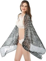 Ju7cer Poncho Shawl Woven Print Scarves For Woman Girls (Black) - $19.05