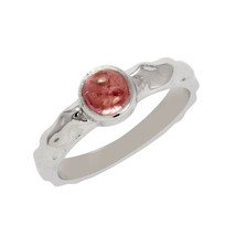 925 Sterling Silver 0.60 Ct Round Pink Tourmaline Gemstone Women Stackin... - $15.00