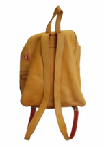 """Vintage BREE Bag Tan Leather Backpack Bag Day Pack 14.5"""" H x 12"""" W x 6"""" Poland image 2"""