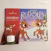 New ColorQuest Rudolph Reindeer Games Hallmark Book Talking Character Se... - $49.45