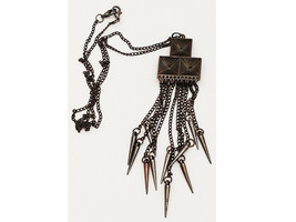Fashion Necklace, 24 Inch Chain, 5 Inch Pendant image 1