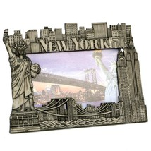 York Picture Frame - Pewter, New York Picture Frames, Fits 4 X 5 1/2 photo. - $24.74
