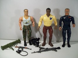Lot Of 3 Vintage Rambo Freedom Force Action Figures Turbo Warhawk Havoc 1986 - $19.55