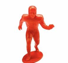 "Louis Marx football player toy plastic figure 4"" vtg 1969 Red corner bac... - $17.37"