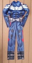 Marvel Boys Captain America Muscle Halloween Dress Up Costume Size M 8 - $10.50