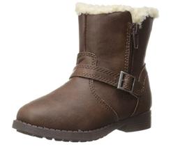 OshKosh Megan Boot Brown Faux Fur Lined Size 5 Little Girl Winter Fall F... - $29.99