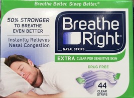 Breathe Right Nasal Strips, Extra Clear for Sen... - $23.21