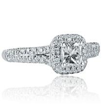 1 Carat F-VS1 Natural Radiant Cut Diamond Engagement Halo Ring 18k White Gold - $1,979.01