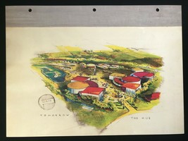 DISNEYLAND Concept Art Lithograph 60th VIP Gift 9x12 1954 Tomorrowland Overview - $23.02