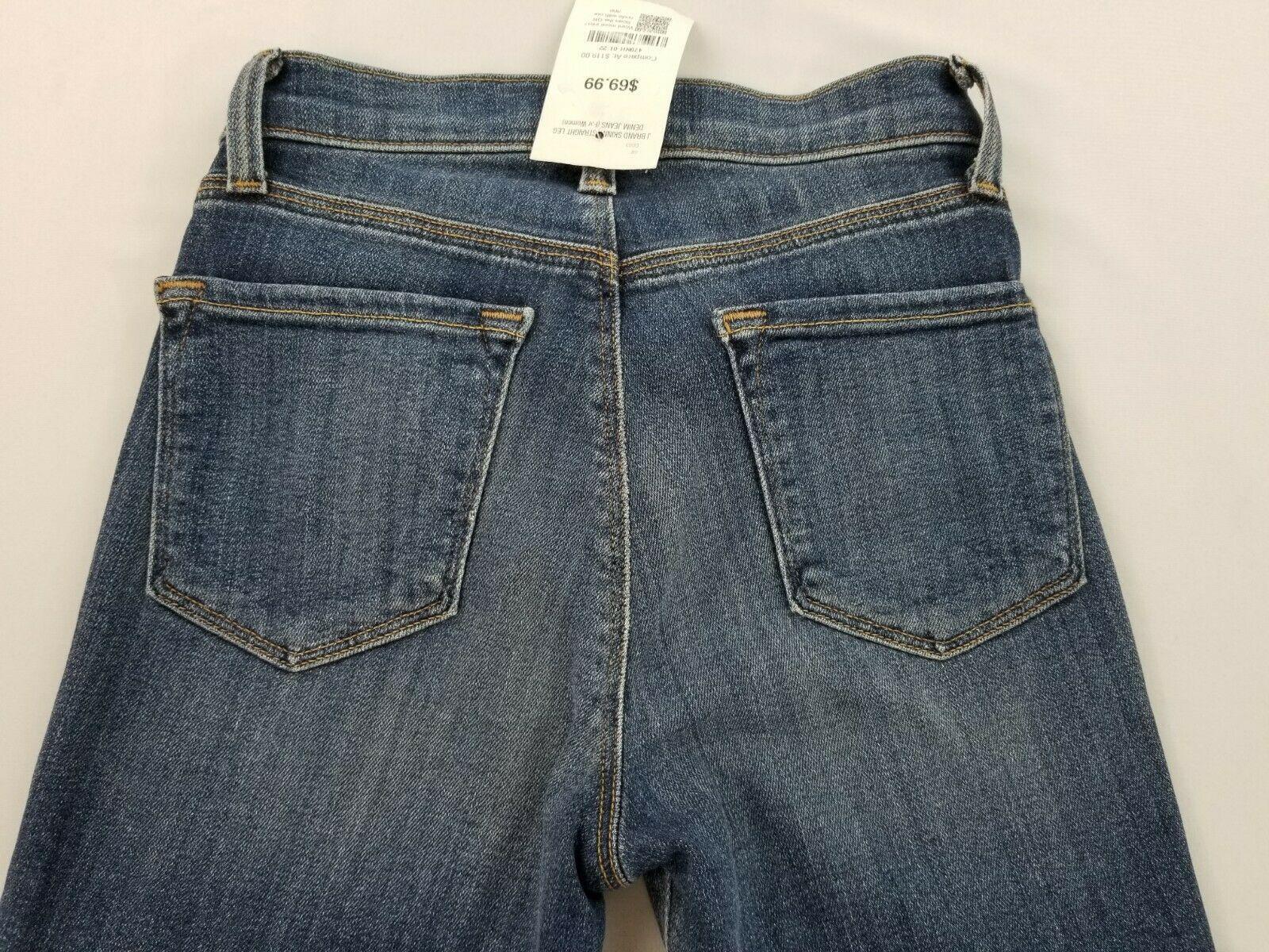 Neuf J Brand Femme Jeans Skinny Maria 23110O212 Divulgation Bleu Sz 22 Pdsf image 6