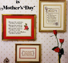 CROSS STITCH EVERYDAY IS MOTHER'S DAY A MOTHER'S LOVE - $2.95