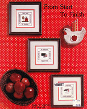CROSS STITCH FROM START TO FINISH FIRST DAY OF SCHOOL - $3.00