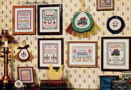 CROSS STITCH MINI COUNTRY SAMPLERS COLLECTION ONE - $4.95