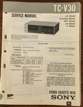 Sony TC-V30 Cassette Service Manual *Original* - $13.08