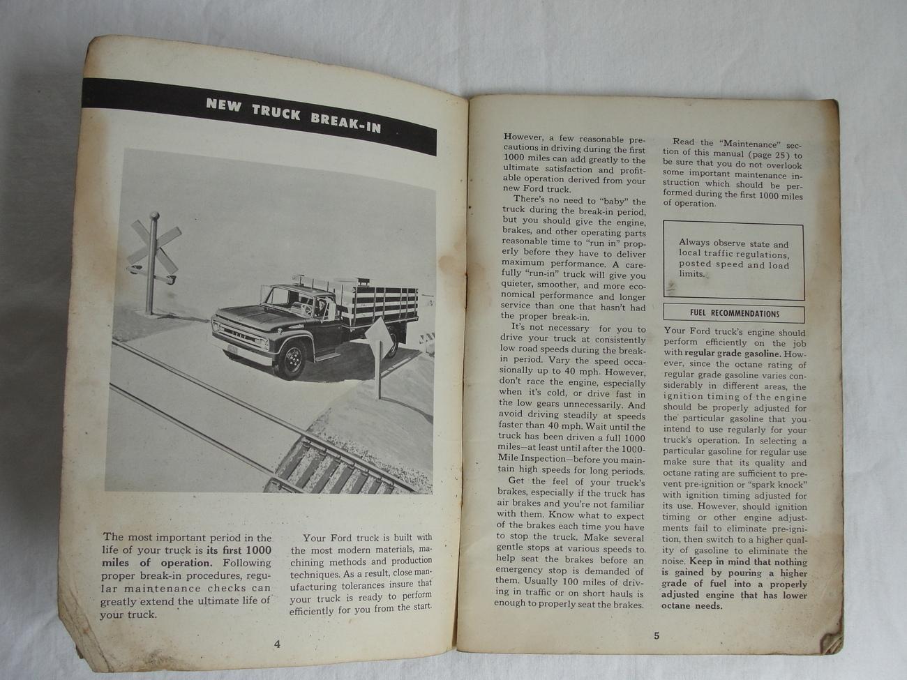 1961 Ford Truck Original Owners Manual Series 100 Thru 800