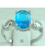 Blue Topaz Sterling Silver .925 Ring Size 7 - $18.98