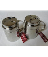 Paderno Two Chrome Shiny Shakers Holes Go From Small To Large Twist The ... - $34.99