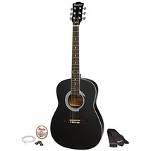 "38"" Parlor Size Acoustic Guitar Ebony with Acce... - $120.57"